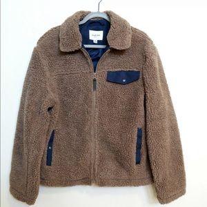 Men's Goodfellow Co Brown Deep Pile Fleece Jacket
